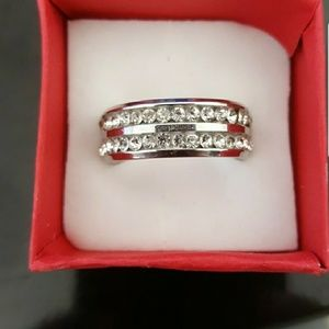 Jewelry - Double row CZ Eternity band in Stainless Steel